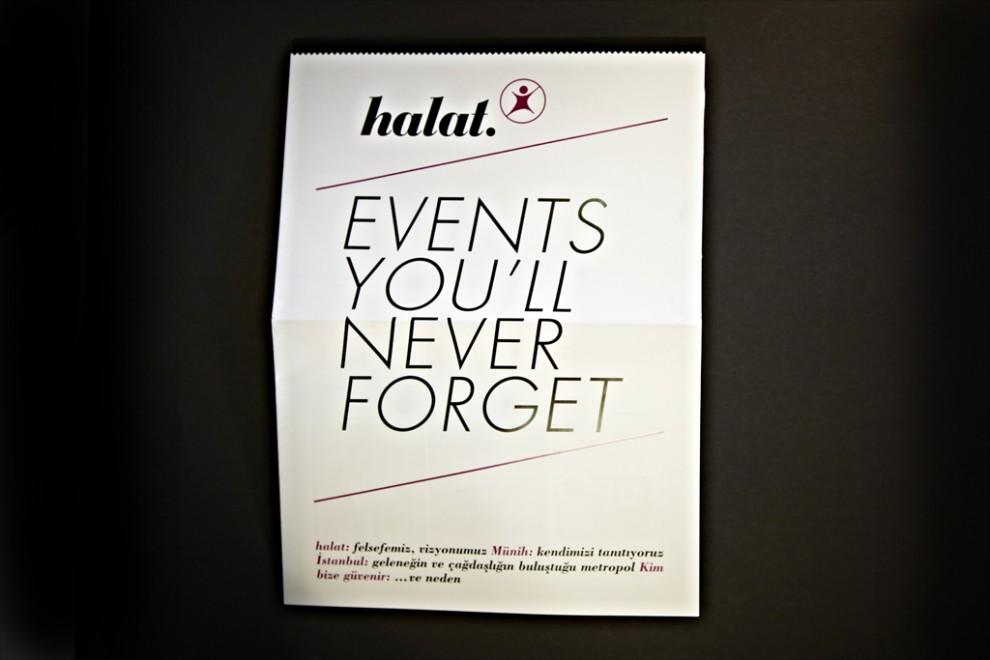Imagebroschüre Halat Events türkische Sprache